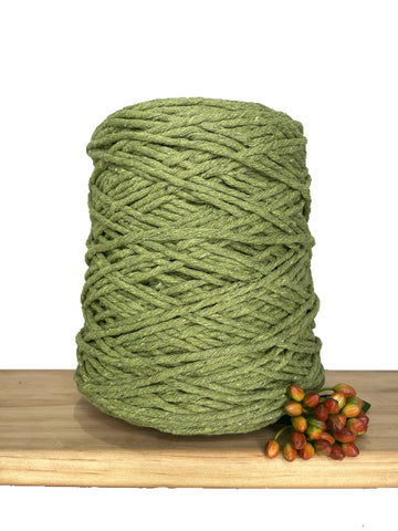 1kg Coloured 1ply Recycled Cotton String - 3mm - Pistachio