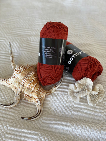 Cotton Yarn - Rust - PACK OF 10