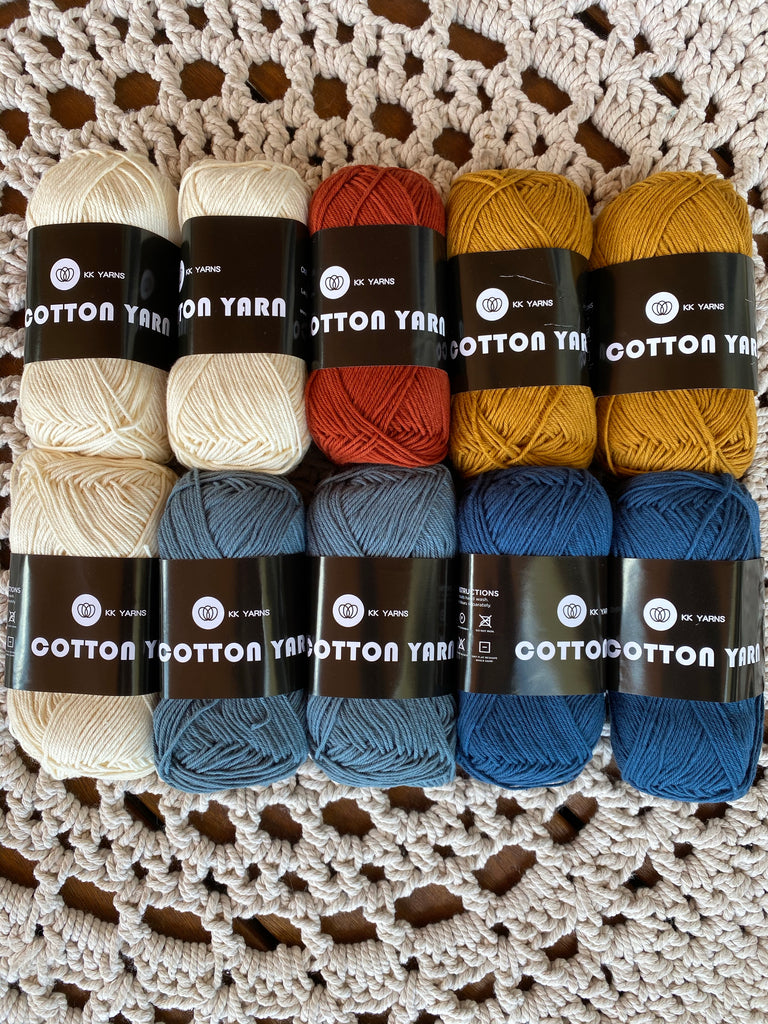 "Cotton Yarn - MIXED PACK OF 10 - ""Retro Mix"""