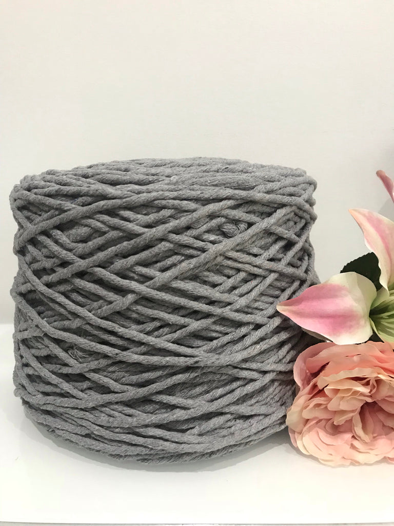 2.5kg Coloured 1ply Cotton String - 5mm - Light Grey