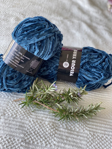 Velour Yarn - Navy