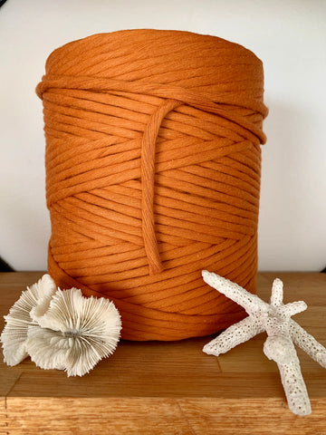 1kg 5mm 100% Pure Deluxe Cotton 1ply String - Burnt Orange