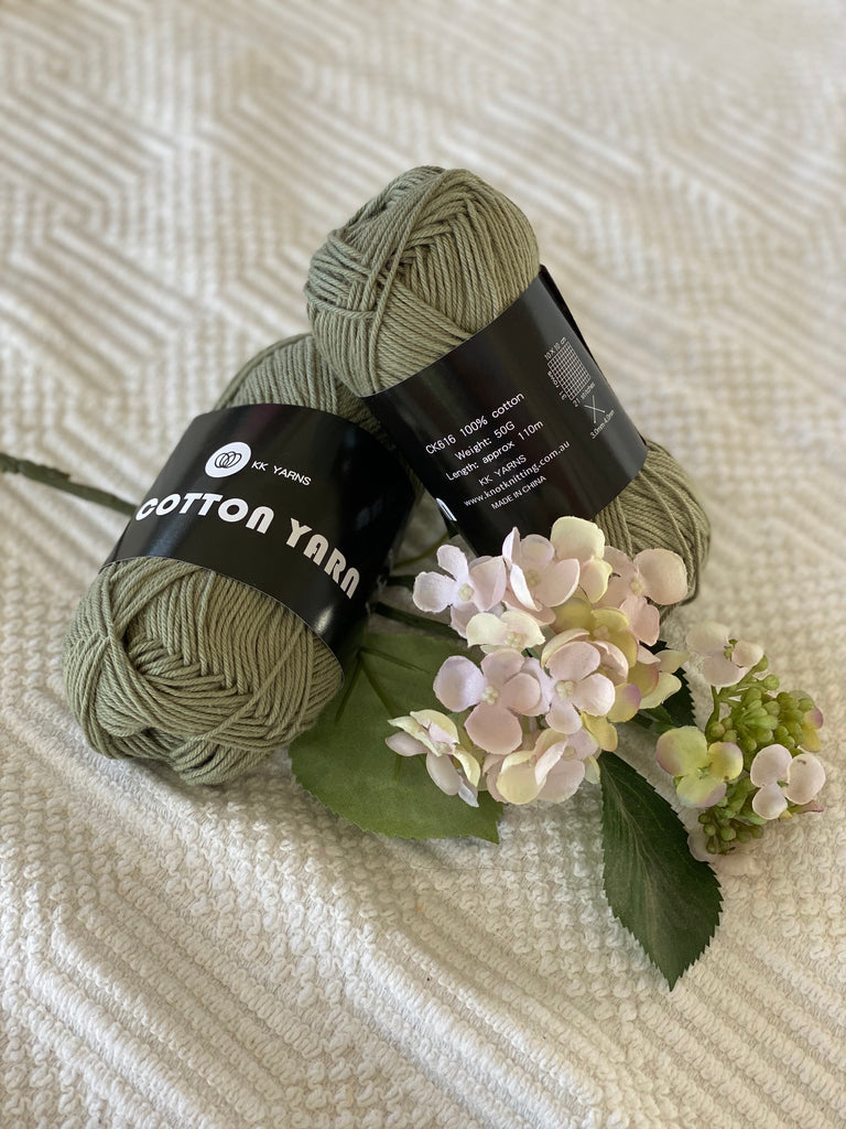 Cotton Yarn - Sage - PACK OF 10