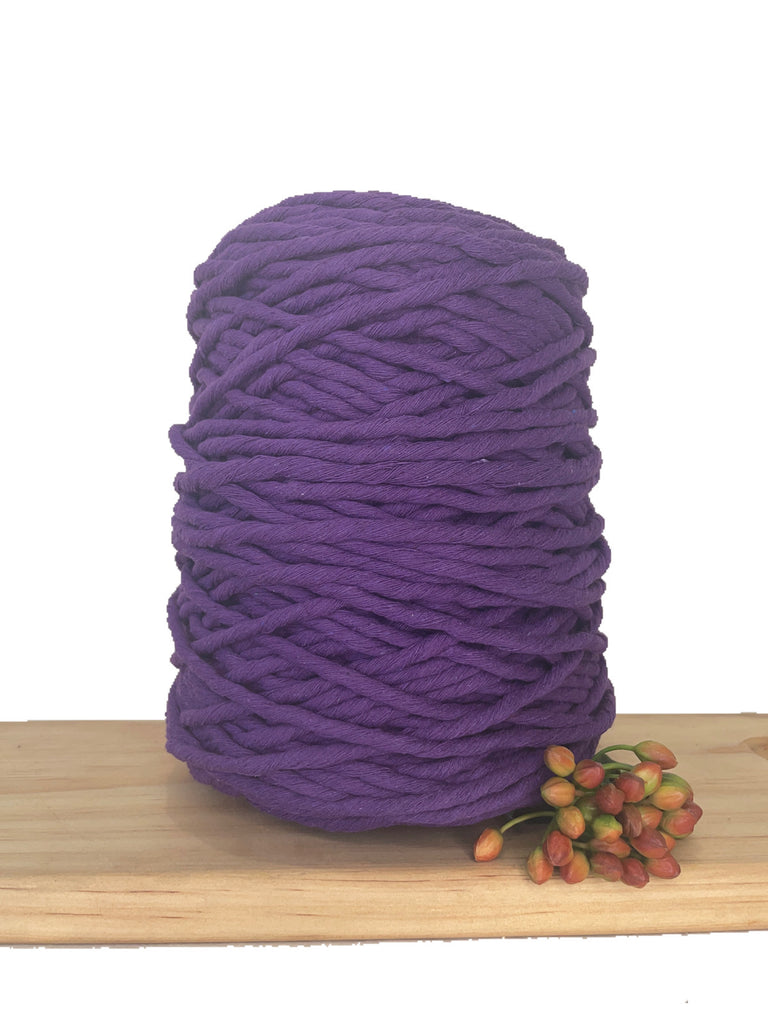 1kg Coloured 1ply Cotton String - 5mm - Cadbury Purple