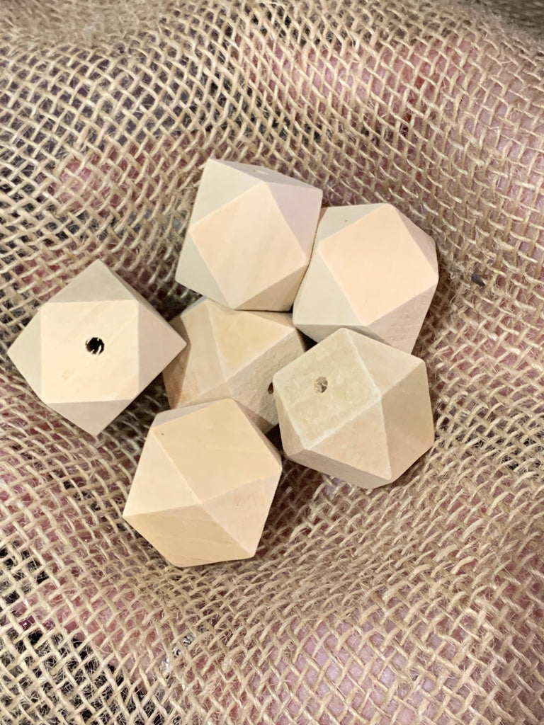 Bamboo Beads - Polygon Shape - 30mm - Pack 6