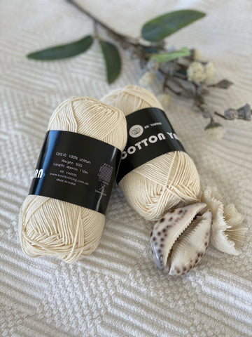 Cotton Yarn - Cream - PACK OF 10