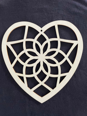 Bamboo Frame - Heart - Pack of 5