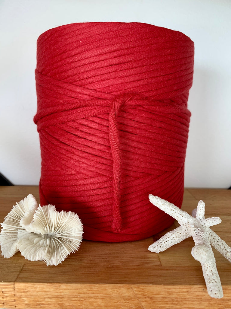 1kg 5mm 100% Pure Deluxe Cotton 1ply String - Pompei Red