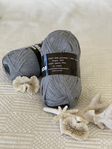 Ribbon Viscose Yarn - Light Grey
