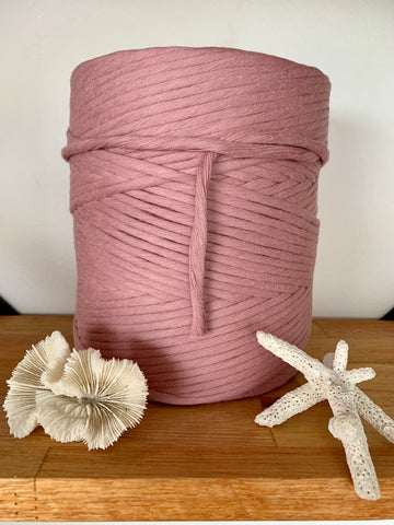 1kg 5mm 100% Pure Deluxe Cotton 1ply String - Rose