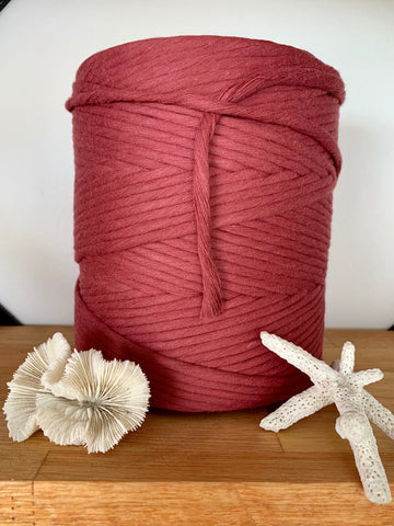 1kg 5mm 100% Pure Deluxe Cotton 1ply String - Rouge