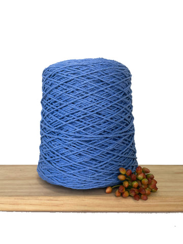 1kg Coloured 1ply Cotton Warping String - 1.5mm - Santorini Blue