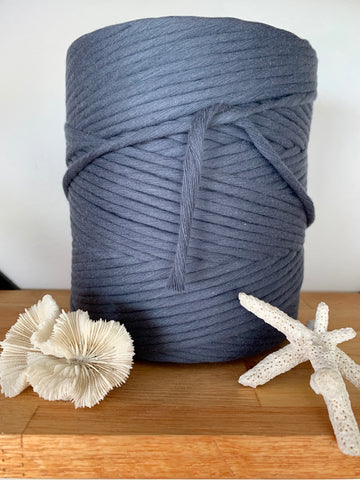1kg 5mm 100% Pure Deluxe Cotton 1ply String - Graphite
