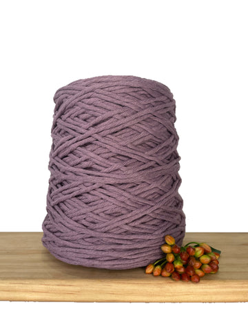 1kg Coloured 1ply Recycled Cotton String - 3mm - Amethyst