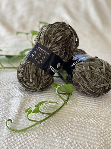 Velour Yarn - Khaki - PACK OF 10