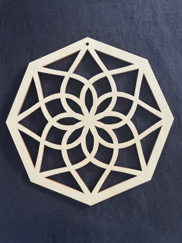 Bamboo Frame - Hexagon