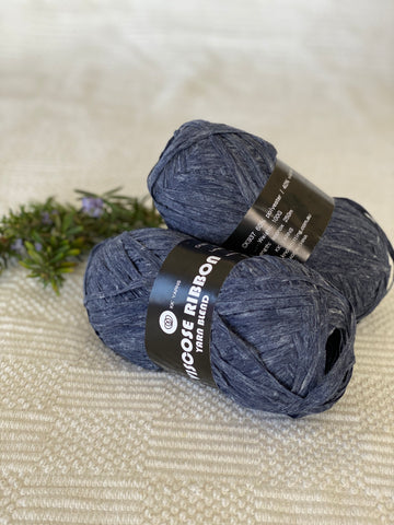 Ribbon Viscose Yarn - Navy
