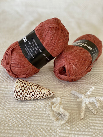 Ribbon Viscose Yarn - Rust