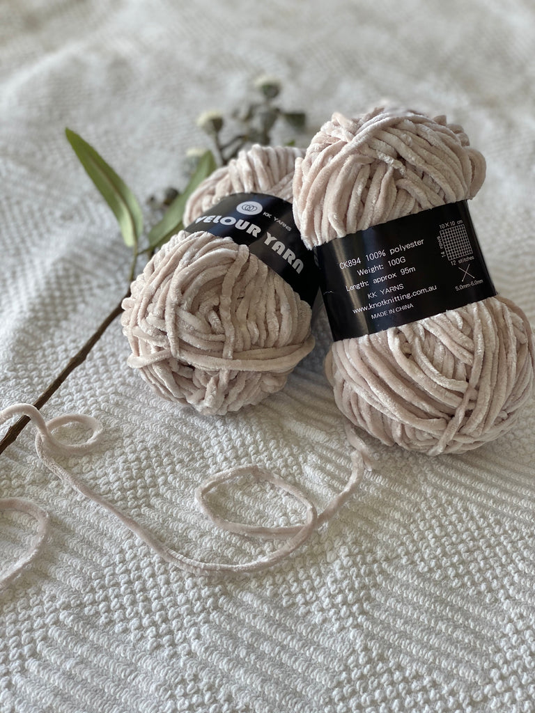 Velour Yarn - Mink - PACK OF 10