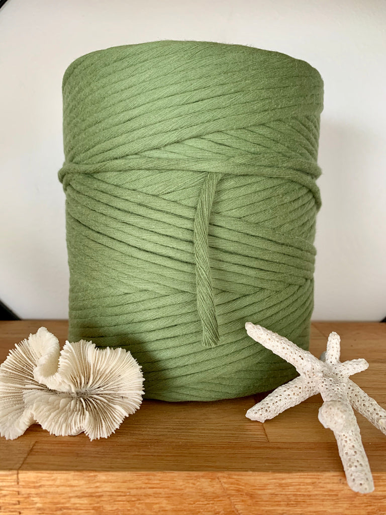 1kg 5mm 100% Pure Deluxe Cotton 1ply String - Avocado
