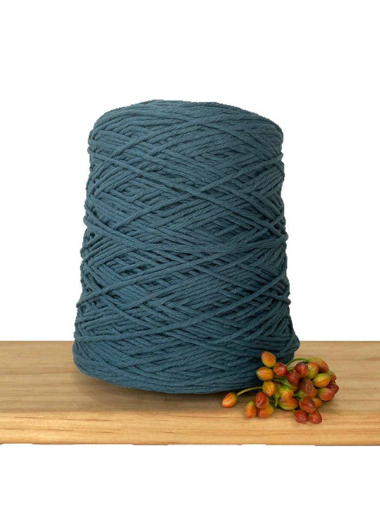 1kg Coloured 1ply Cotton Warping String - 1.5mm - Mallard
