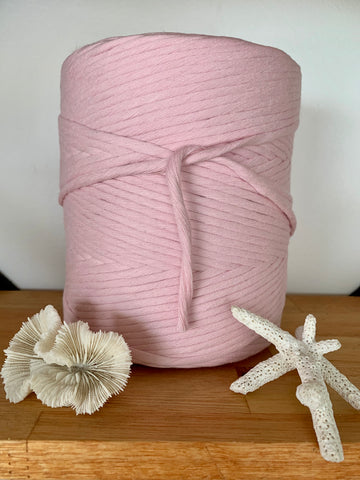 1kg 5mm 100% Pure Deluxe Cotton 1ply String -Blush