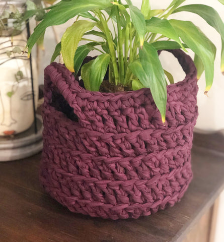 T-Shirt Yarn Crochet Basket Pattern