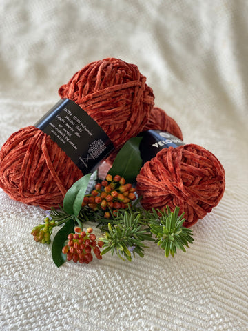 Velour Yarn - Rust - PACK OF 10