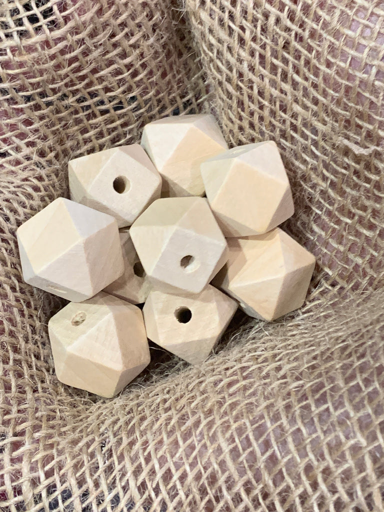 Bamboo Beads - Polygon Shape - 20cm - Pack 10