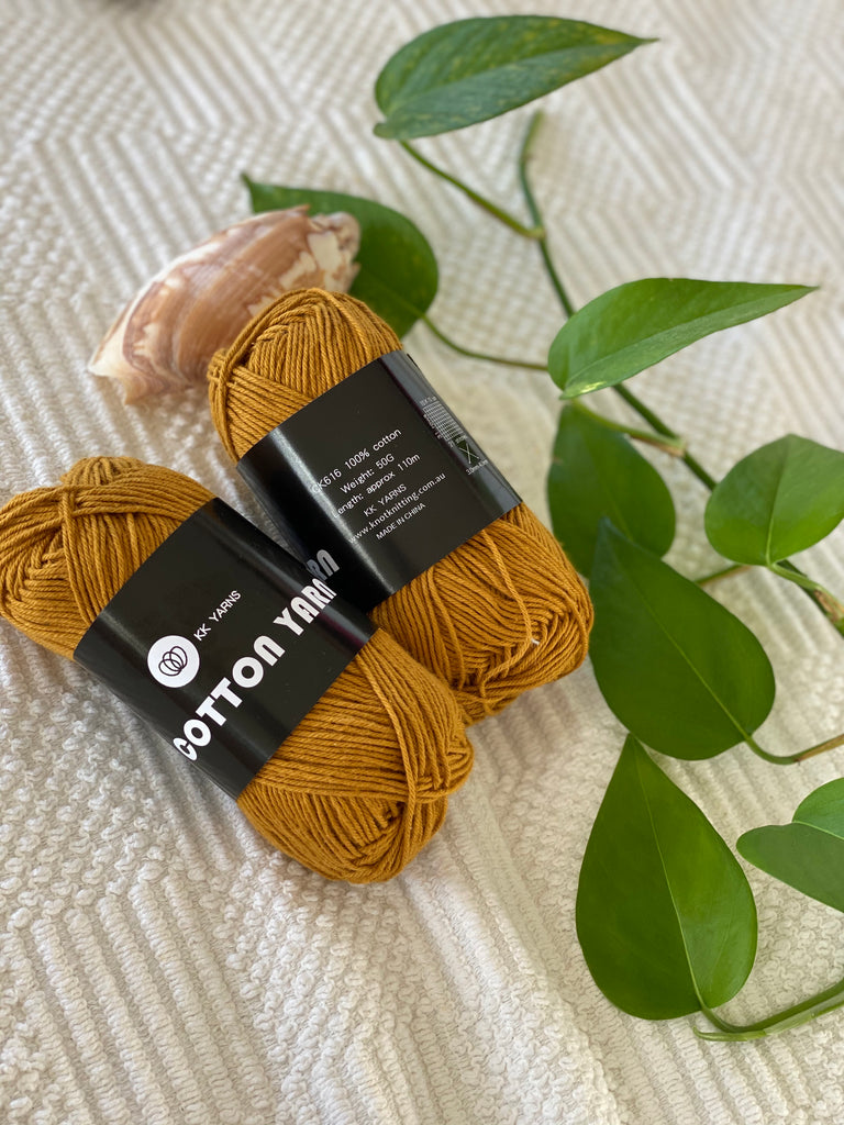 Cotton Yarn - Mustard - PACK OF 10