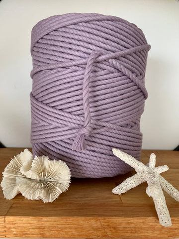 1kg 5mm 100% Pure Deluxe Cotton 3ply Rope - Dusty Mauve