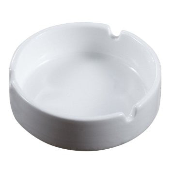 Ash Tray White Ceramic