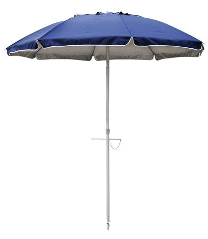 Beach Umbrella and Base (Orange/Blue)