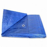 Waterproof Tarps - Blue Plastic 6x6m