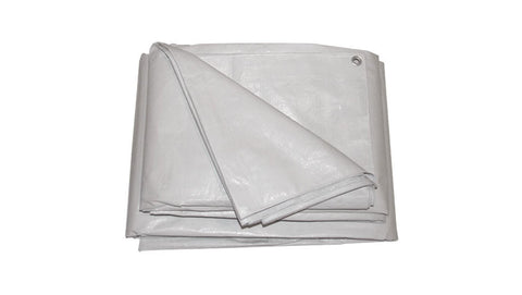 Waterproof Tarps - Grey Plastic 6x3.5m