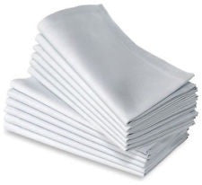 Linen Napkins White, Coloured