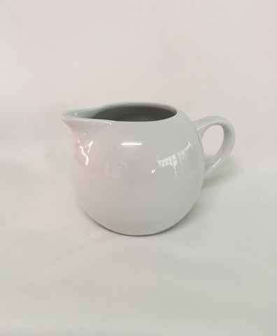 Milk Jug Ceramic White or Crystal
