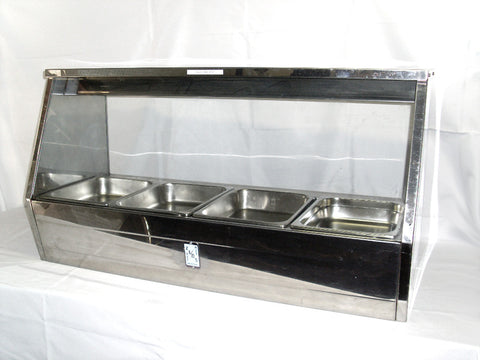Bain Marie 8 including Trays and Lids with Glass Hood ++