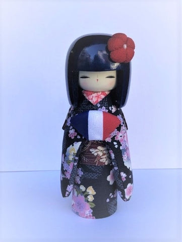 KK24  Kokeshi Kyo Bijin France Blue Hair €42