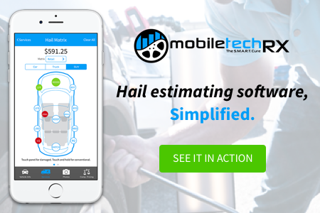 Mobile Tech RX Hail and collision estimating software