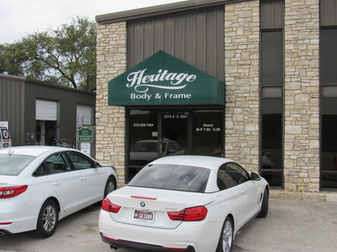 Heritage auto body shop in Cedar Park