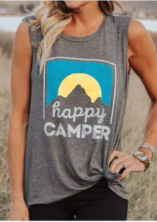 Summer Happy Camper Sleeveless Tank Top