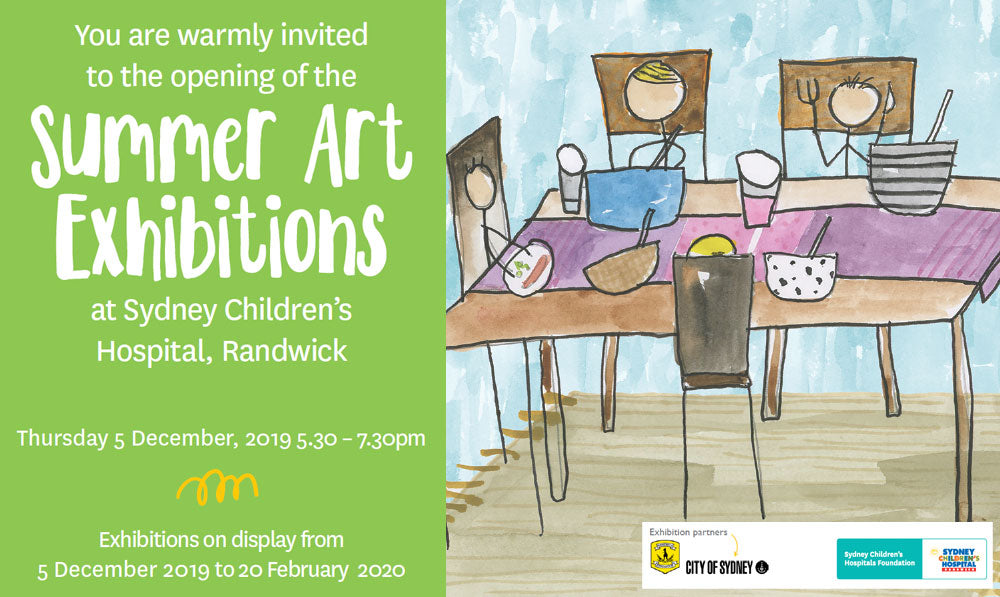 Harvest Collection's Summer Art Exhition at the Sydney Children's Hospital Randwick