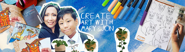 Create art with Mary and Jon