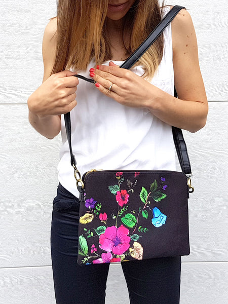 Cross Body Bag - Night Bloom