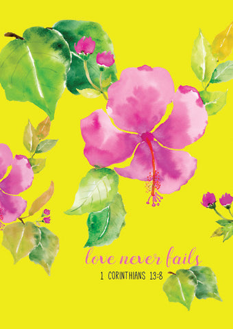 Love Never Fails - Pink Art Print
