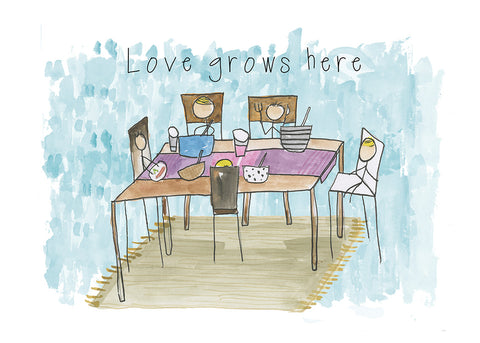 Love Grows Here - Art Print/ Plaque