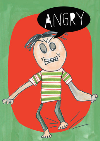 Angry - Emotions Series Art Print