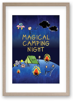 Magical Camping Night - Art Print