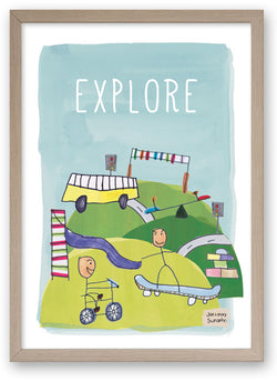 Explore - Art Print/ Plaque